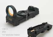 OKO Red Dot Reflex Sight for Weaver Rail Mounting
